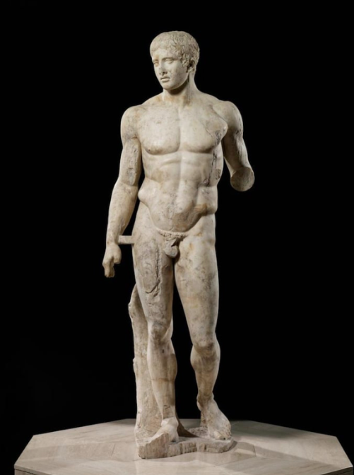 """Figure 7. """"The Doryphoros"""" by Unknown Roman. 120-150 BCE. Minneapolis Institute of Art."""