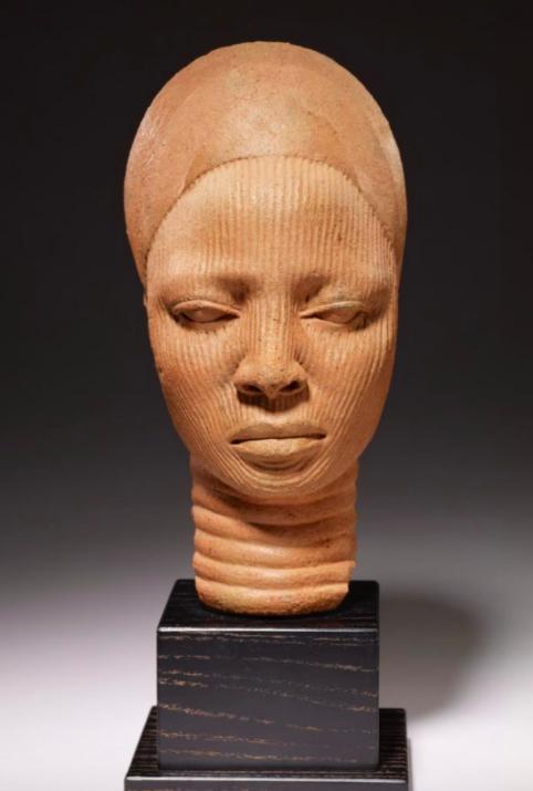 "Figure 19. ""Shrine Head"" by Unknown Yoruba Artist. 12th-14thc., Nigeria. Minneapolis Institute of Art."