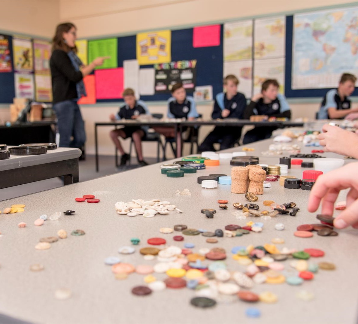 Figure 3. Year 7 students from Numurkah developing typologies of everyday objects. Photo: Rhonda Doyle Photography.