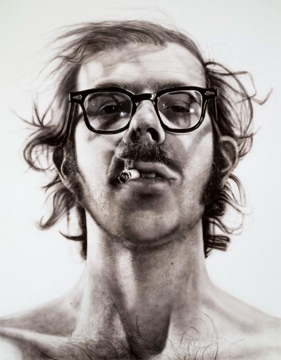 """Figure 15. """"Big Self-Portrait"""" by Chuck Close. 1967-68. Walker Art Center."""