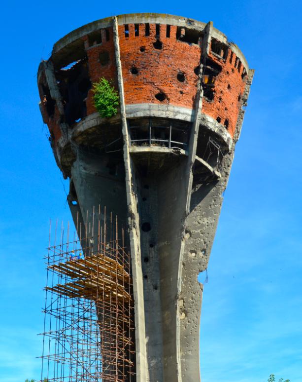 The water tower (Vukovar, Croatia)