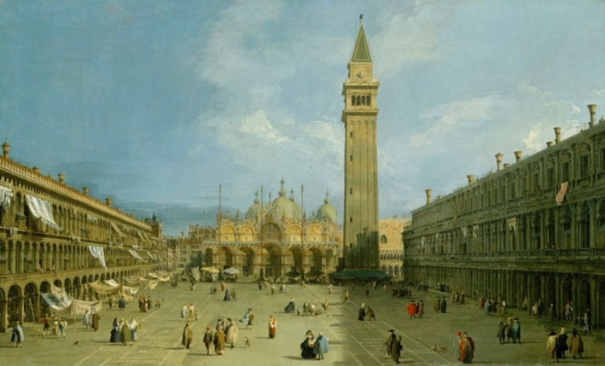 """Figure 5. """"Piazza San Marco"""" by Canaletto. 1720s. The Metropolitan Museum of Art."""