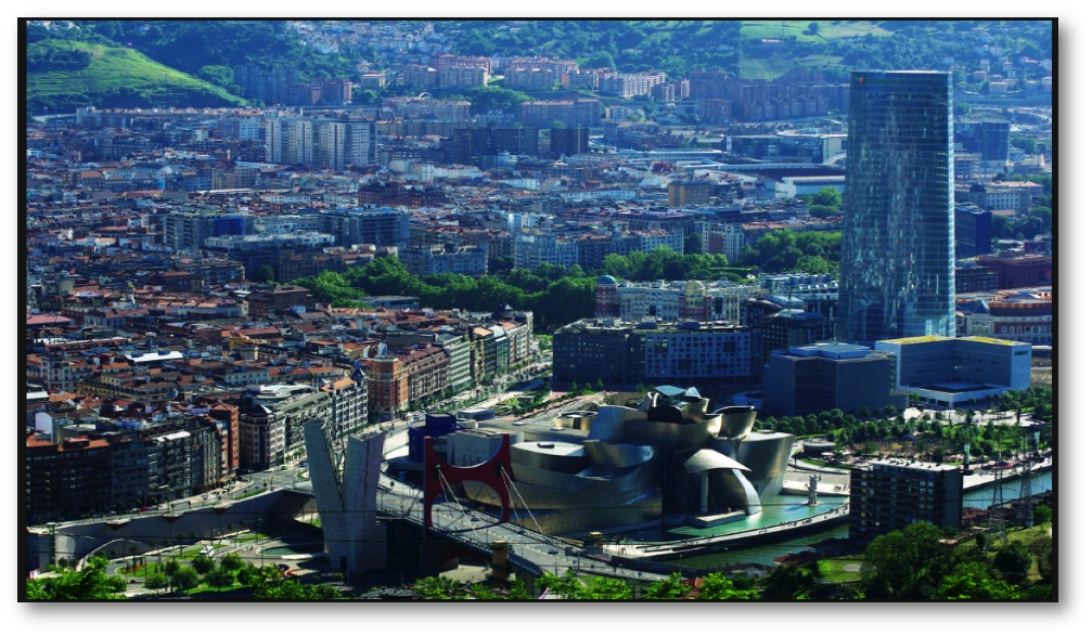 Figure 2. Panoramic view of the city of Bilbao, Spain, with the Guggenheim Museum in center foreground/