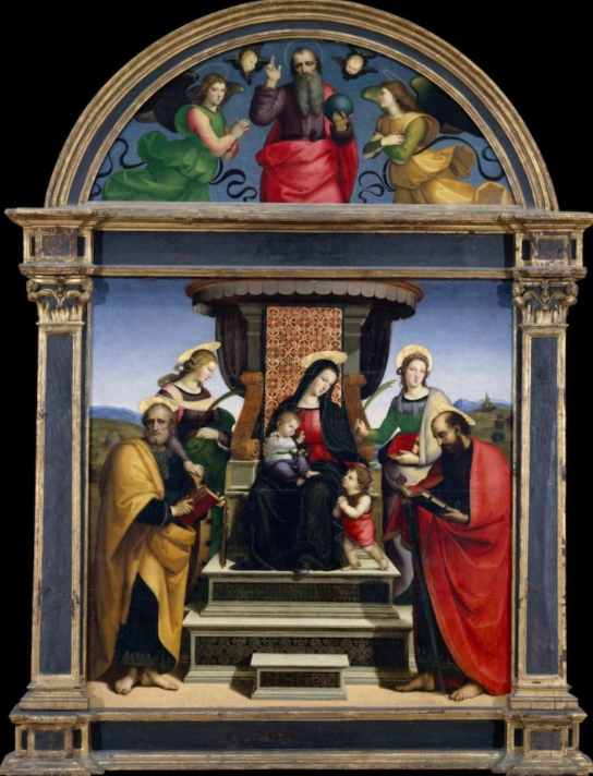 """Figure 9. """"Madonna and Child Enthroned with Saints"""" by Raphael. ca. 1504. The Metropolitan Museum of Art."""