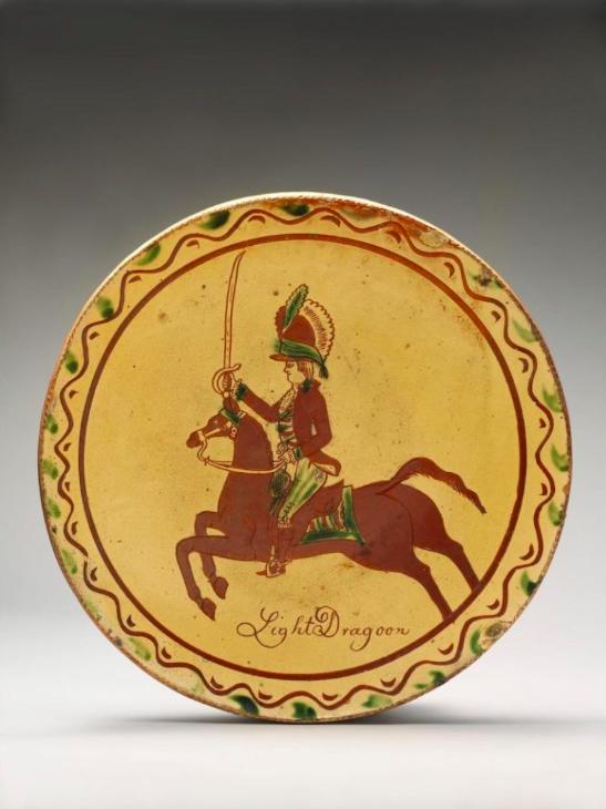 "Figure 1. ""Plate"" ca. 1820-50, American. The Metropolitan Museum of Art."
