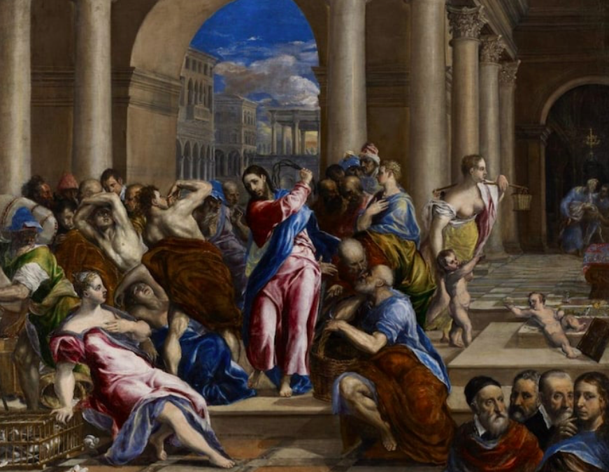 """Figure 11. """"Christ Driving the Money Changers from the Temple"""" by El Greco. ca. 1570. Minneapolis Institute of Art."""